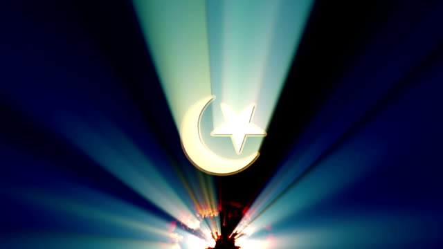 crescent and star islam - полумесяц форма предмета стоковые видео и кадры b-roll