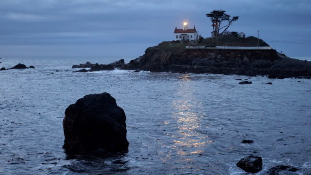Crescent City California Pacific Coast Battery Point Lighthouse video
