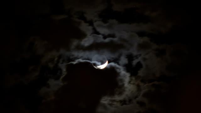 Crescent Moon Timelapse video