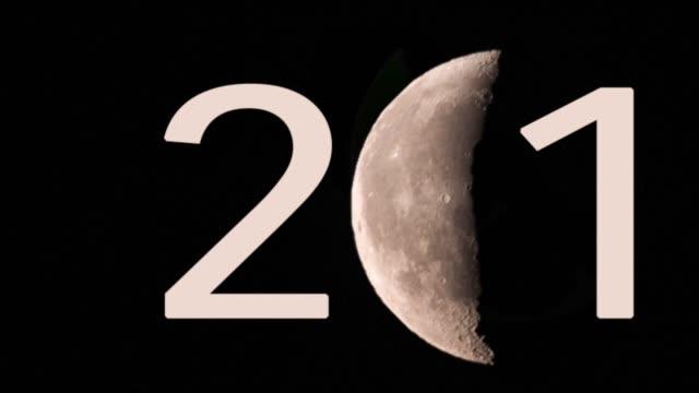 Crescent new moon  writing 2019