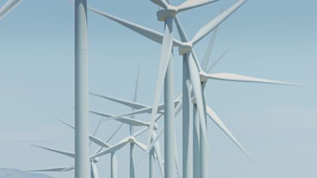 Crescent of Wind Turbines video
