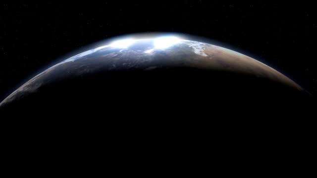 vídeos de stock e filmes b-roll de cresent planeta terra do espaço - green world