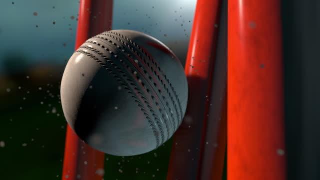 クリケット ボールを打つウィケット - クリケット点の映像素材/bロール