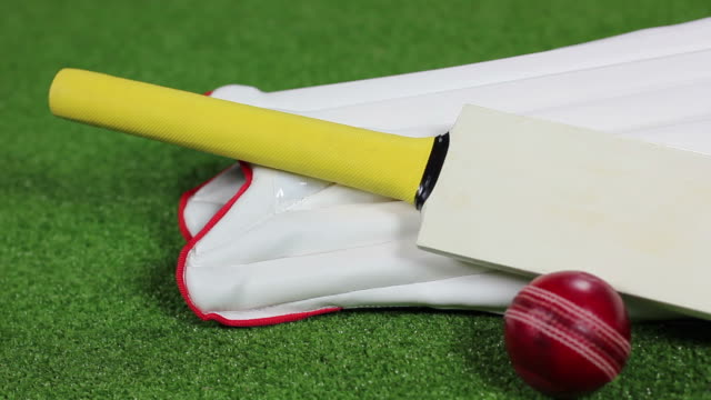 Cricket Bat, ball & pads (Equipment) HD and PAL  padding stock videos & royalty-free footage