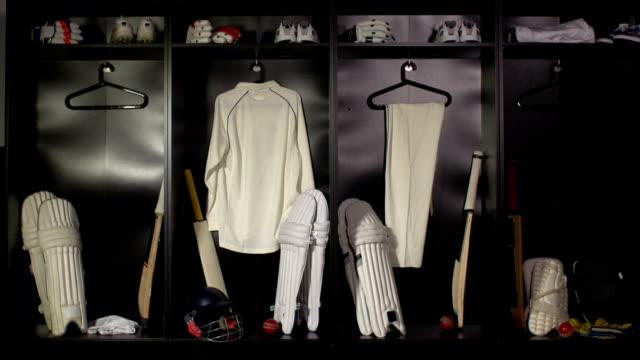 Cricket locker / changing room - DOLLY HD (Sport uniform) video
