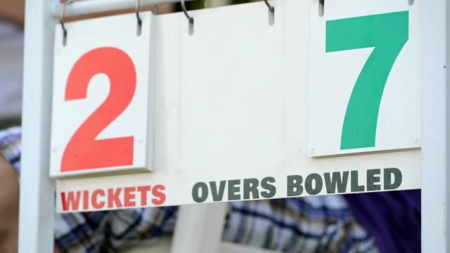 vídeos y material grabado en eventos de stock de puntaje de críquet - críquet