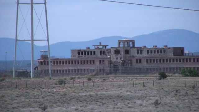 (HD1080i) Crime: Abandoned Prison in Barren Desert, Zoom Out video