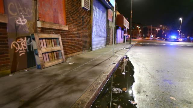 犯罪現場 - street graffiti点の映像素材/bロール
