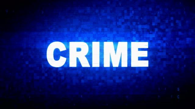 犯罪テキストデジタルノイズ twitch グリッチ歪み効果エラーアニメーション。 - なりすまし犯罪点の映像素材/bロール