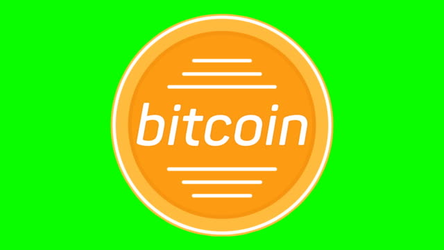 Cripto currency Bitcoin coin looped rotate. Seamless video available in 4K FullHD and HD