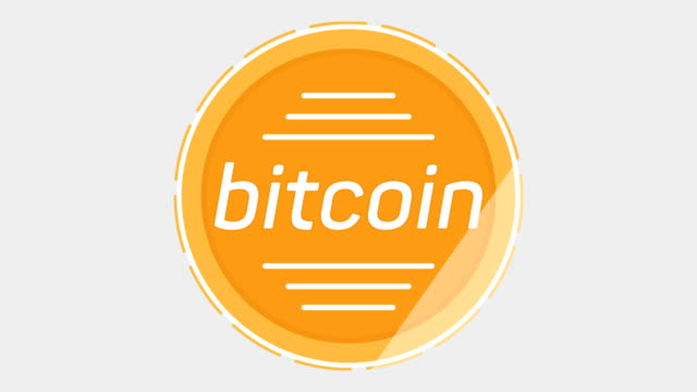 Cripto currency Bitcoin coin looped rotate. Seamless video