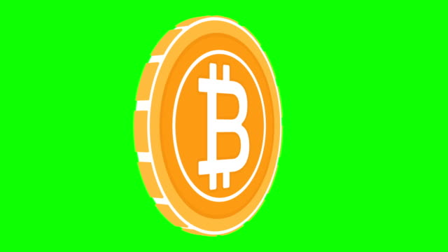 Cripto currency Bitcoin coin looped rotate. Seamless video.