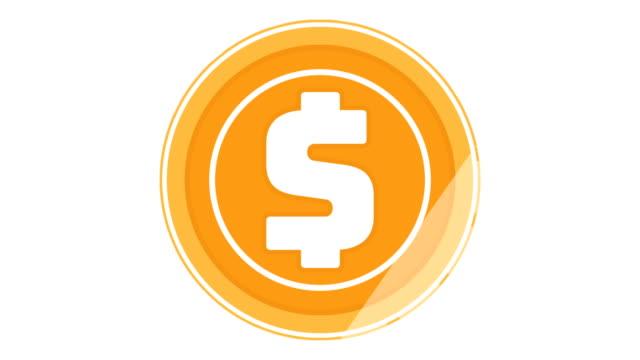 cripto währung dollar münze geloopt drehen - aufkleber stock-videos und b-roll-filmmaterial