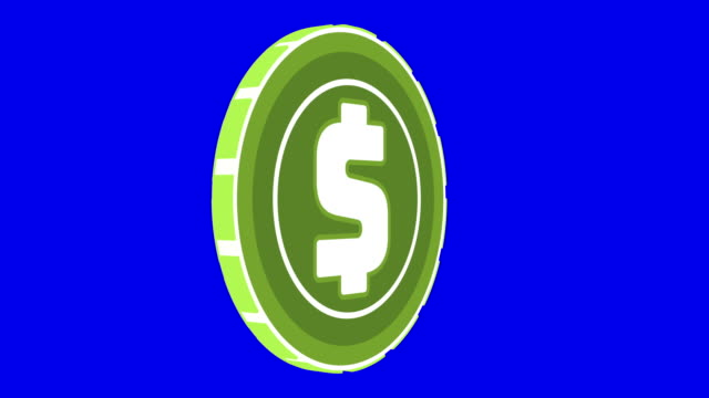 Cripto currency dollar coin looped rotate