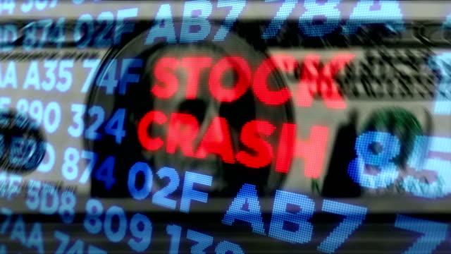 vídeos y material grabado en eventos de stock de mercados bursátiles de crisis y recesión y recuento de dinero en euros - recesión