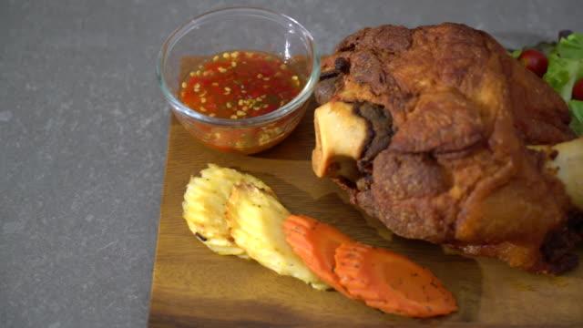Crispy pork knuckle or German Pork Hocks video