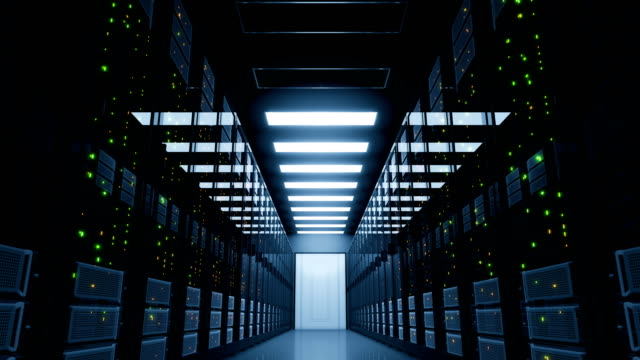 Critical Blackout in Server Room. Electricity Failure in Modern Data Center Cloud Computing. Critical Blackout in Server Room. Electricity Failure in Modern Data Center Cloud Computing.  4k Ultra HD 3840x2160. server room stock videos & royalty-free footage