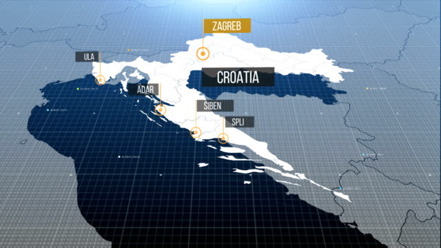croatia map with label then with out label - хорватия стоковые видео и кадры b-roll