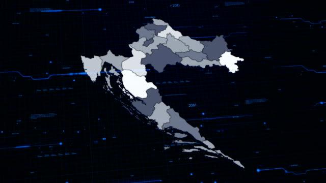 Croatia network map video