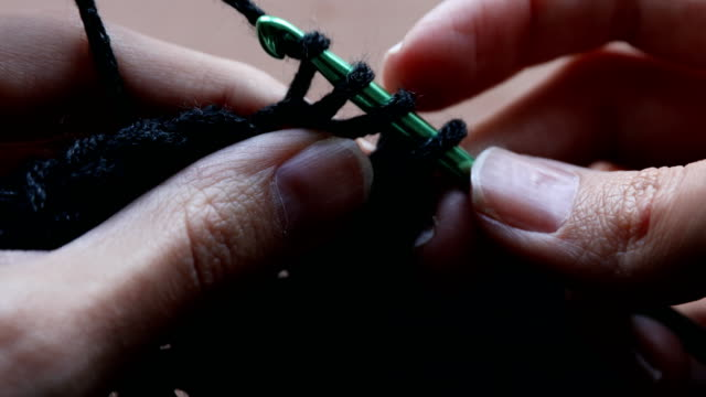 Crochet with black yarn