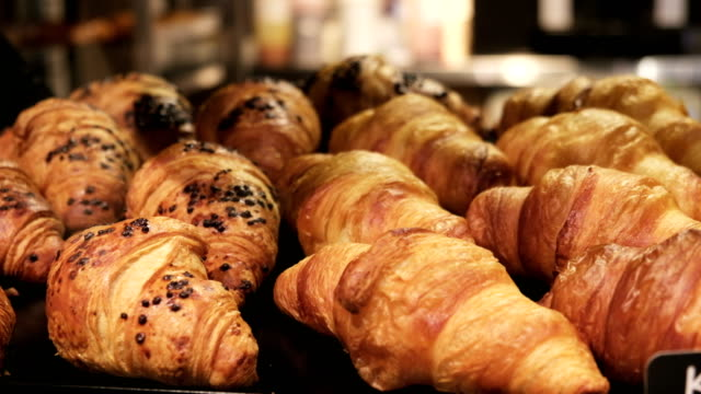 Croissant. Daily breakfast France Bakery products