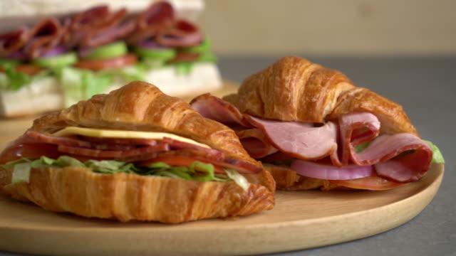 croissant sandwich ham video