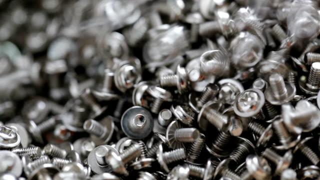 crome schrauben - schraube stock-videos und b-roll-filmmaterial