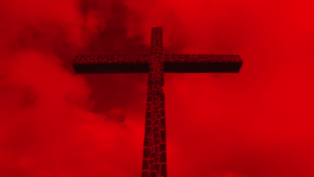 rote kreuz gegen den himmel (zeitraffer - verfault stock-videos und b-roll-filmmaterial