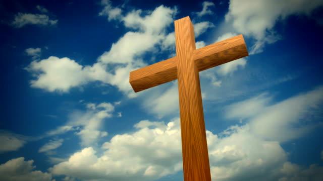 Cross against the sky video