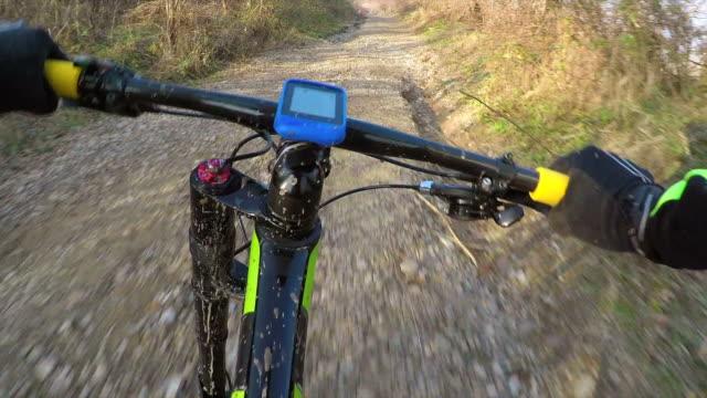 POV Cross country cycling. video