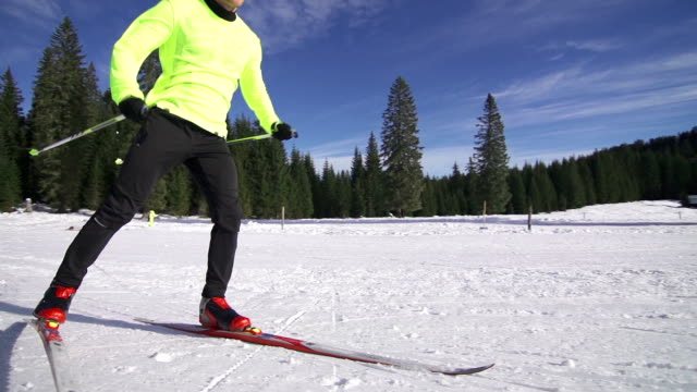 Cross country skiing video