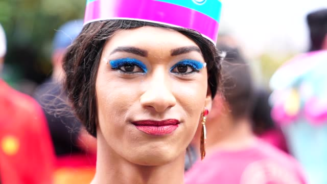 Cross Dressing Man wearing like woman Diversity lesbian stock videos & royalty-free footage