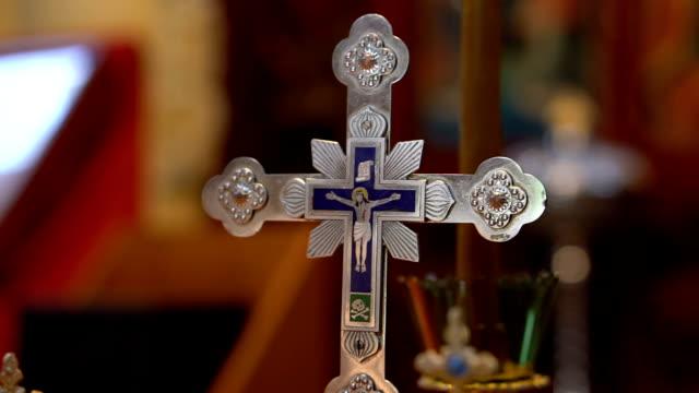 Cross in an Orthodox church