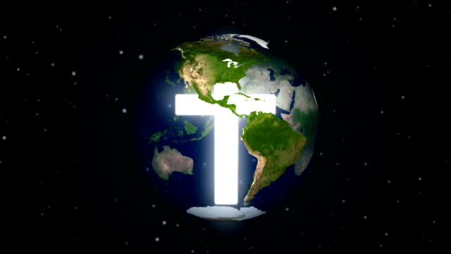 Cross in center of the earth seamless loop. video