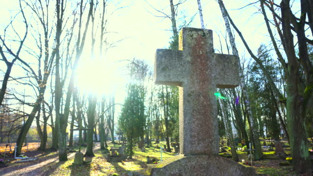 Cross on cemetary video