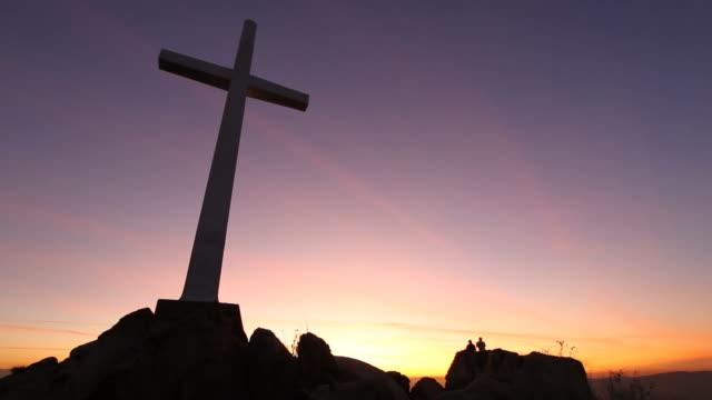 Cross on Hill Sunset video