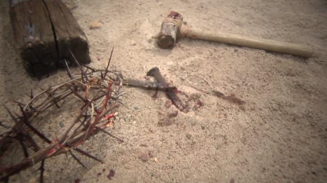 cross_scene_sunny_5 - krucifix bildbanksvideor och videomaterial från bakom kulisserna