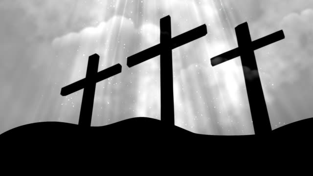 3 Crosses Worship Grey Loopable Background video