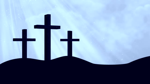 Crosses-Worship Blue Loopable Background video