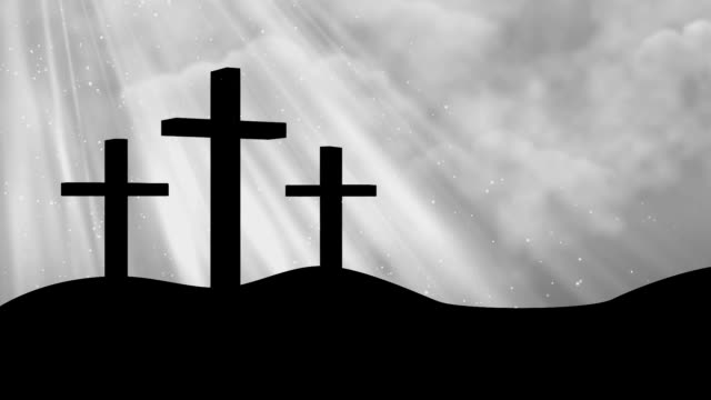 Crosses-Worship Grey Loopable Background video