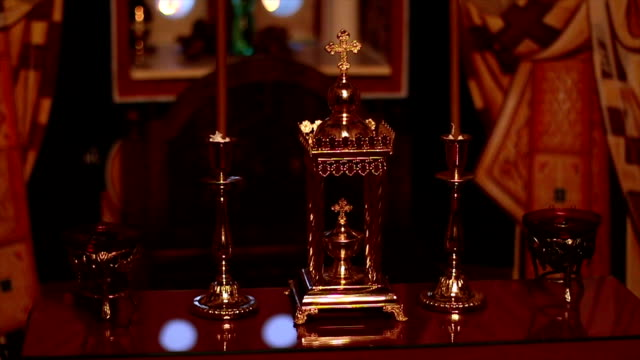Cross,Holders for candles and Prayer Candles video