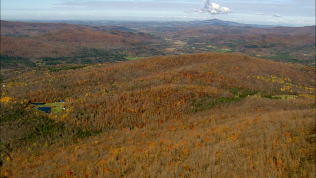 Crossing Haystack Mountain  - Aerial View - Vermont,  Orleans County,  United States video