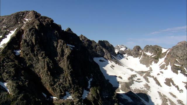 Crossing the Teton Range  - Aerial View - Wyoming,  Teton County,  helicopter filming,  aerial video,  cineflex,  establishing shot,  United States video