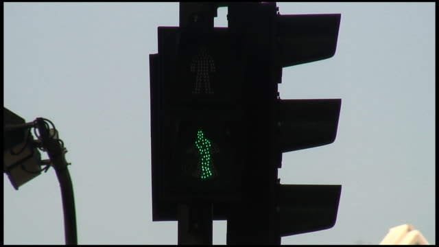 (HD1080) Crosswalk Green Light Speeds Up As Time Runs Out video