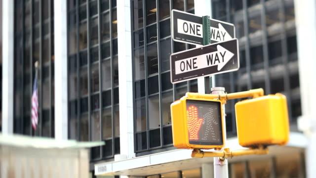 NYC Crosswalk Light (Tilt Shift Lens) video