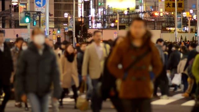 crosswalk of Pedestrians crosswalk at Shinjuku video
