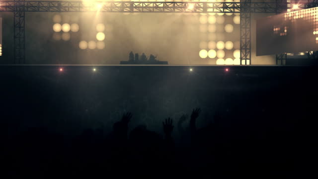 Crowd at Concert  - Loop (Rock Music, Mixed Colored 1) video