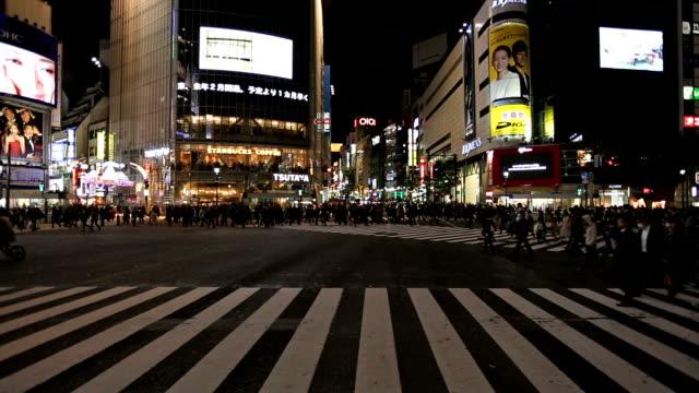 人群中交叉澀谷交界處 - 澀谷交叉點 個影片檔及 b 捲影像