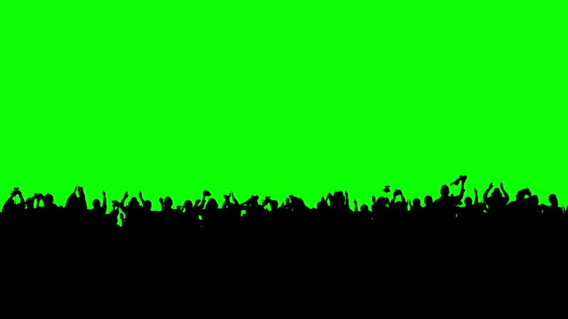 Crowd of people. Green screen. These people are real, shot on green screen. silhouette stock videos & royalty-free footage