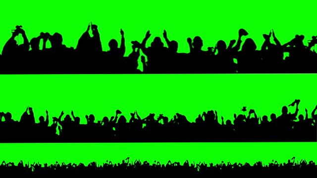 Crowd of people. Green screen. These people are real, shot on green screen. silhouette people stock videos & royalty-free footage